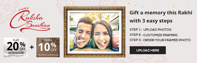 Gift a memory this rakhi get 30 off on personalized customized photo frame