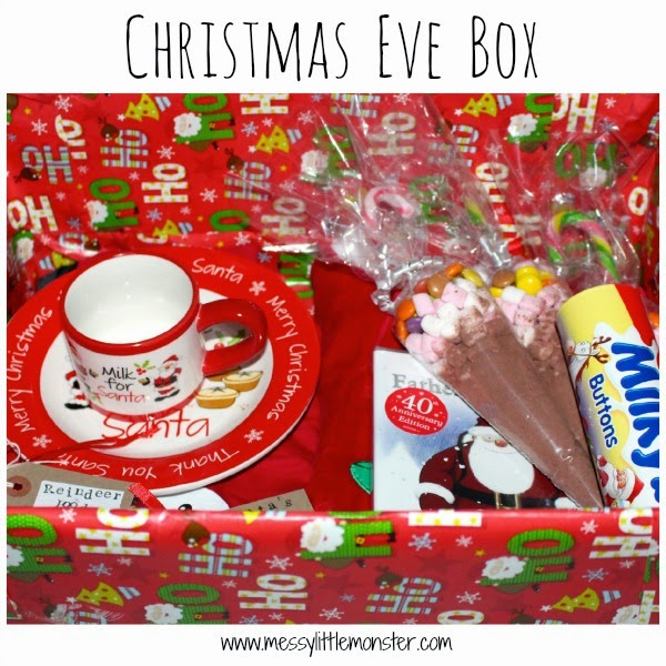 Christmas eve box - Christmas advent countdown.  Fun Christmas craft and activity ideas for every day of advent. Perfect ideas for toddlers, preschoolers and older kids.