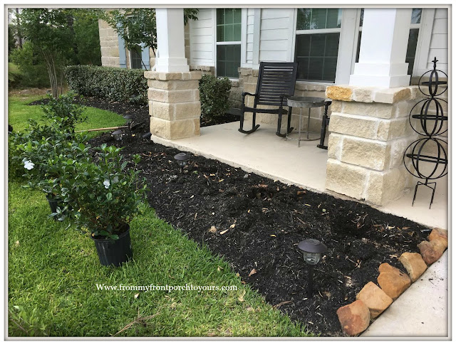 Landscape-Front Flower Beds-Curb Appeal-From My Front Porch To Yours