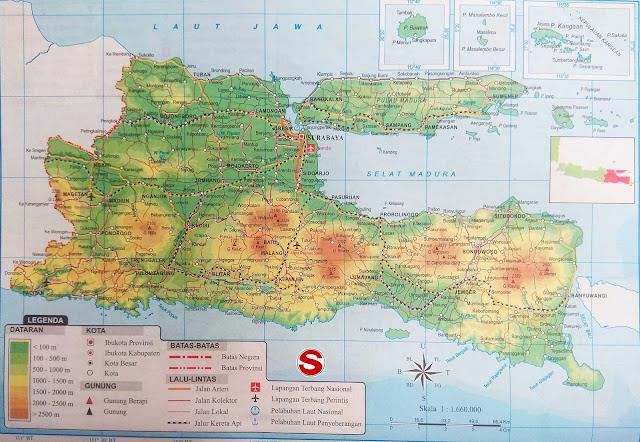 Gambar Peta Atlas Provinsi Jawa Timur