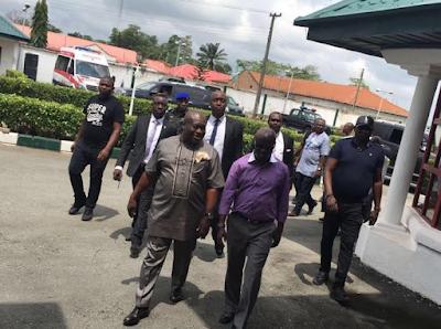 Abia state:, Dr Okezie Ikpeazu resumed office today. 333