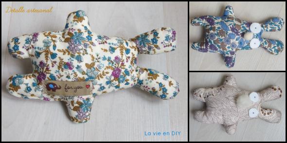 peluche artesanal en Liberty by La vie en DIY