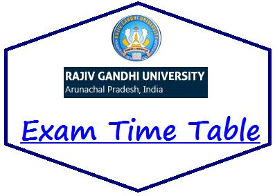 RGU Itanagar Time Table 2021