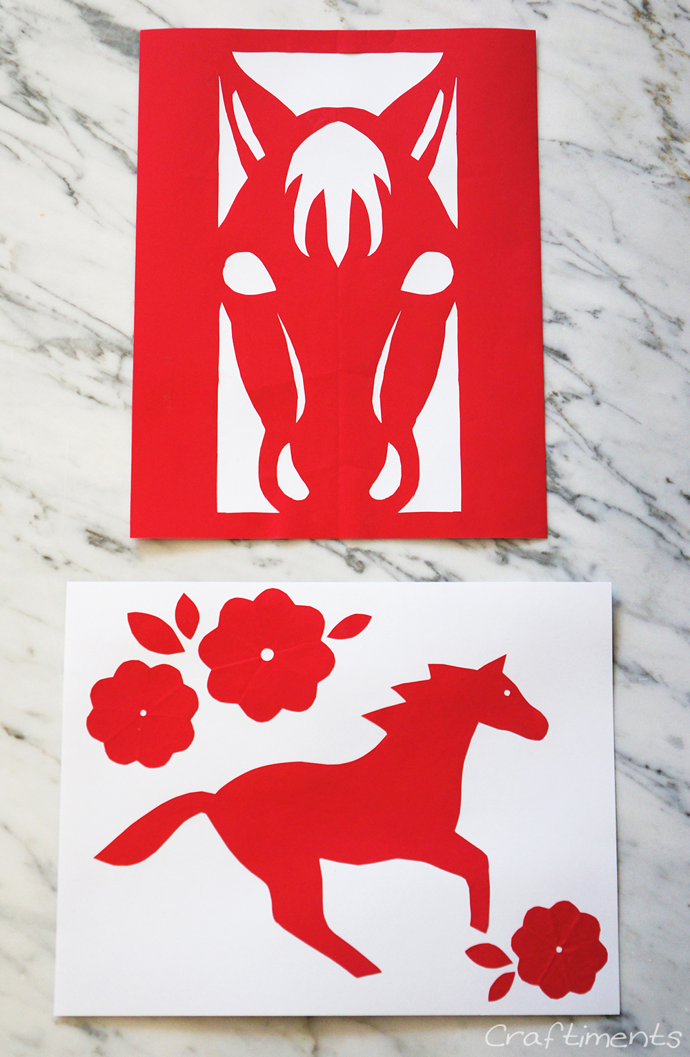 Craftiments Chinese New Year Paper Cutting Craft For Kids Includes Free Printable Patterns