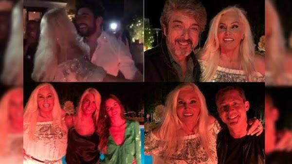 Susana Giménez festejó su cumpleaños junto a sus amigos y Facundo Moyano