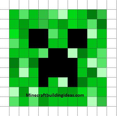 Minecraft Pixel Art Templates: Creeper