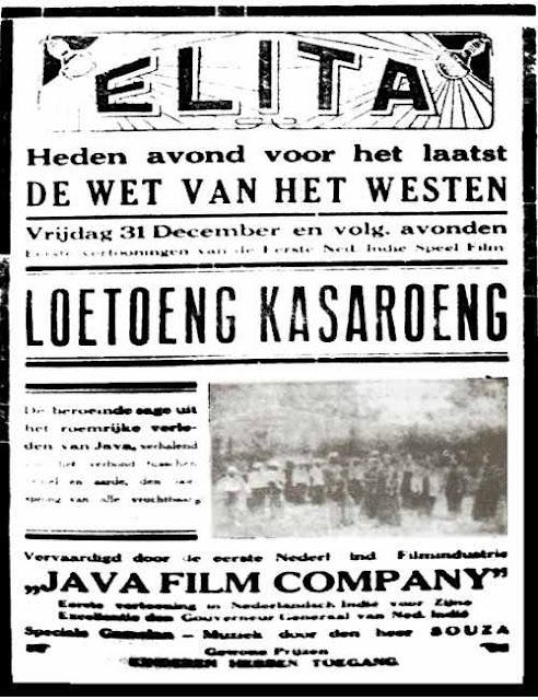 sejarah filem indonesia pertama loetoeng kasaroeng