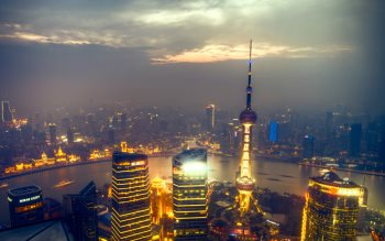 Wallpaper: Sunset over Shanghai