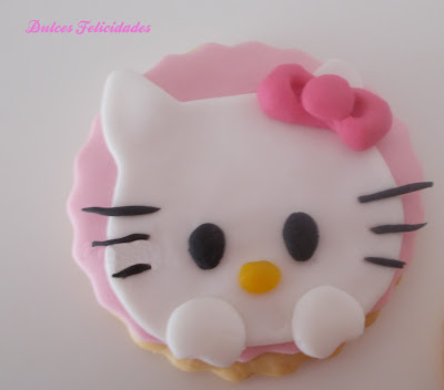 Galletas Hello Kitty fondant