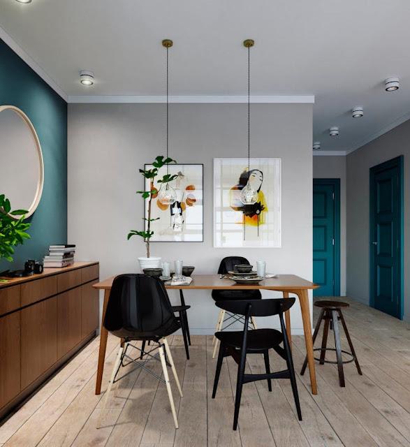 Schlafzimmer im Glaskasten – neue Aufteilung für kleine Wohnung plus schickes Mid-Century Design gepaart mit Industrial Look in der Einrichtung