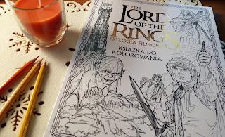 """Zaostrz kredki i ruszaj do Mordoru, czyli recenzja """"The Lord od the Rings. Trylogia filmowa. Książka do kolorowania"""""""