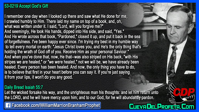 Since he wrote in the book PARDONED I have been happy