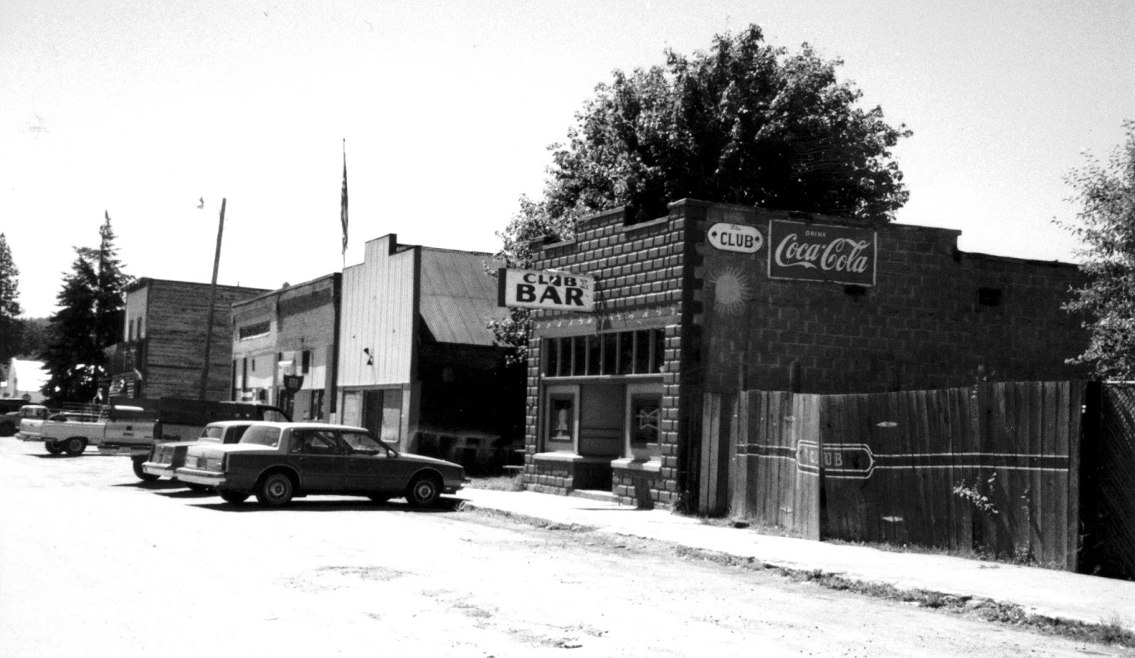 Bar Street in Troy, Montana, 1970s (from the Noirsville blog).
