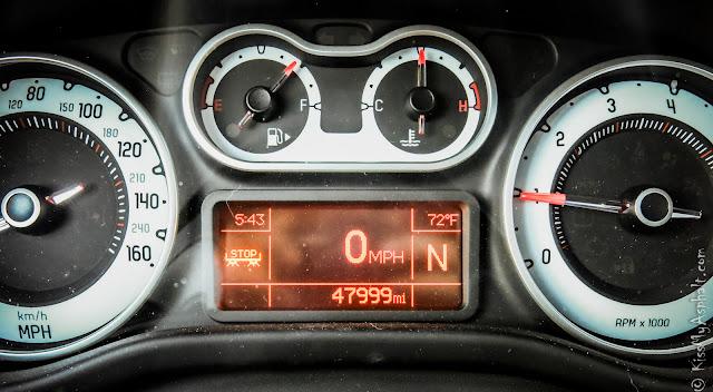 2014 Fiat 500L odometer