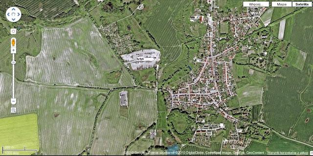 Garz - Korzenica - grodzisko wczesnośredniowieczne - stolica Ranów - zdjęcie satelitarne z google maps