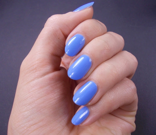 Alessandro Baby blue nail polish swatch review 1