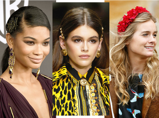 заколки, ободки на волосы в моде 2019