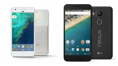 Google Pixel  Vs LG Nexus 5X