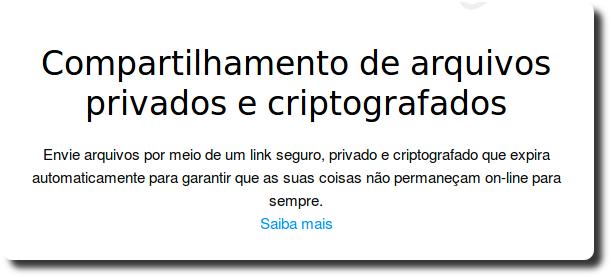 Compartilhar arquivos criptografados por Email