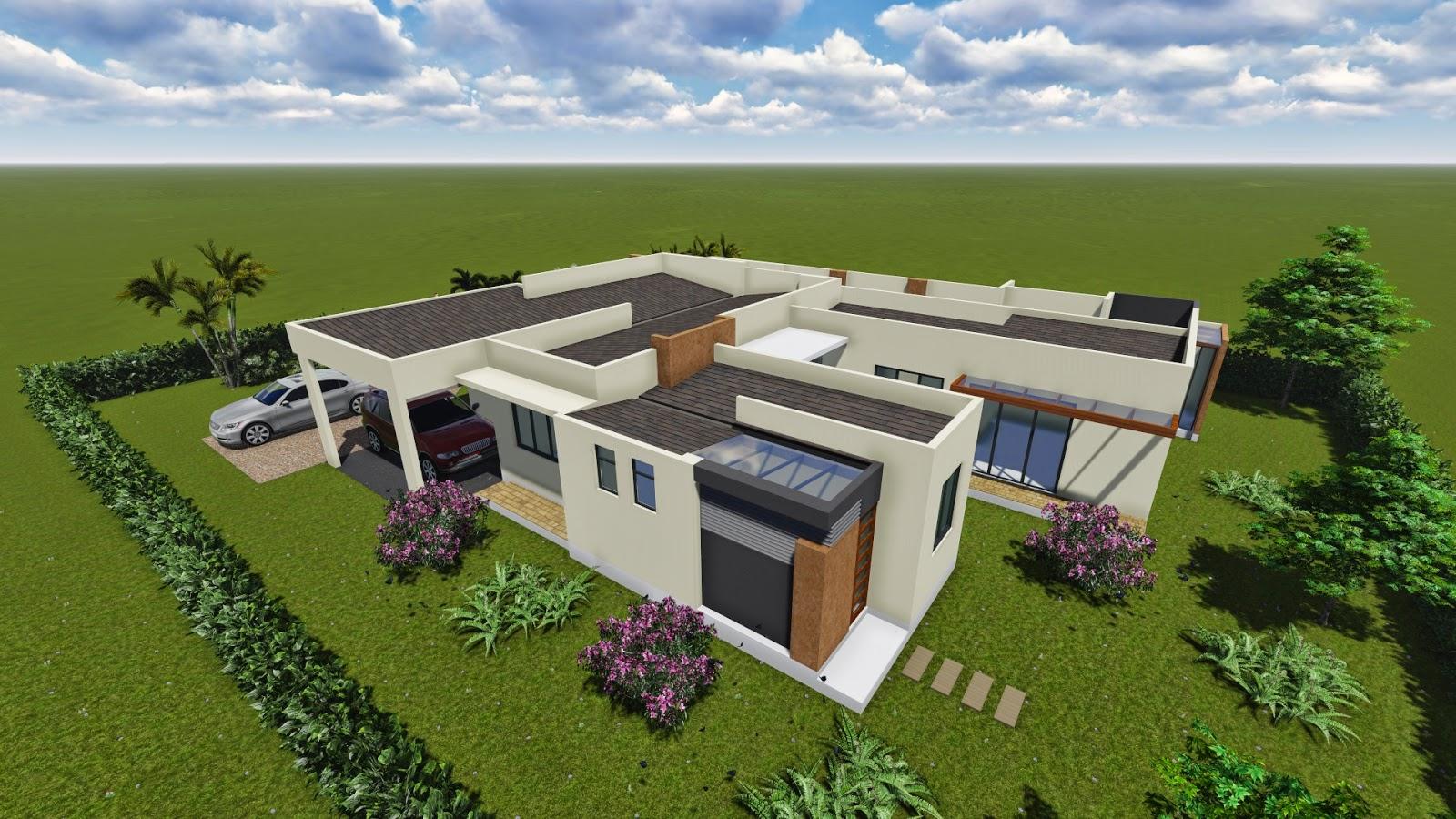 Dise o de casa campestre moderna 250 m2 for Disenos de residencias modernas