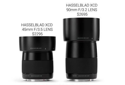 Hasselblad XCD 45mm f/3.5,  XCD 90mm f/3.2