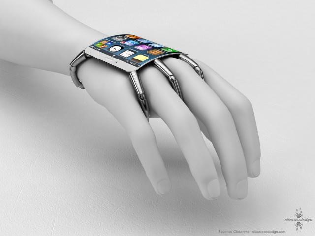 iPhone con un toque muy futurista y bizarro.