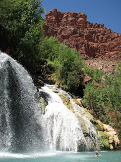 Carbonate Canyon Waterfall