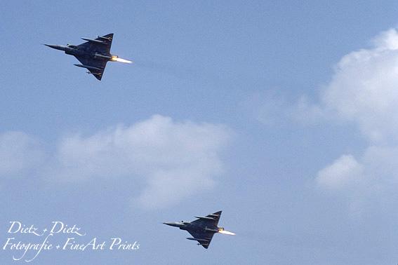Mirage IIIS mit SEPR 844 Raketentriebwerk, im Einsatz bis 1991