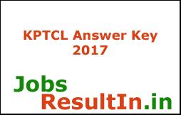 KPTCL Answer Key 2017