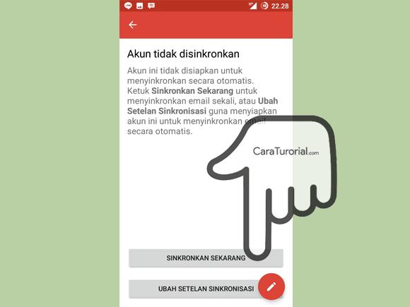 Sinkronisasi Akun Gmail