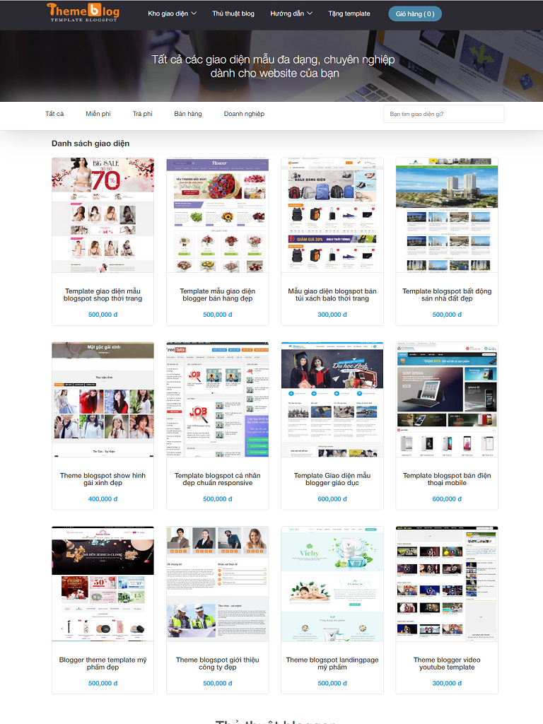 Chia sẻ bộ theme Blogspot miễn phí của Hòa Trần