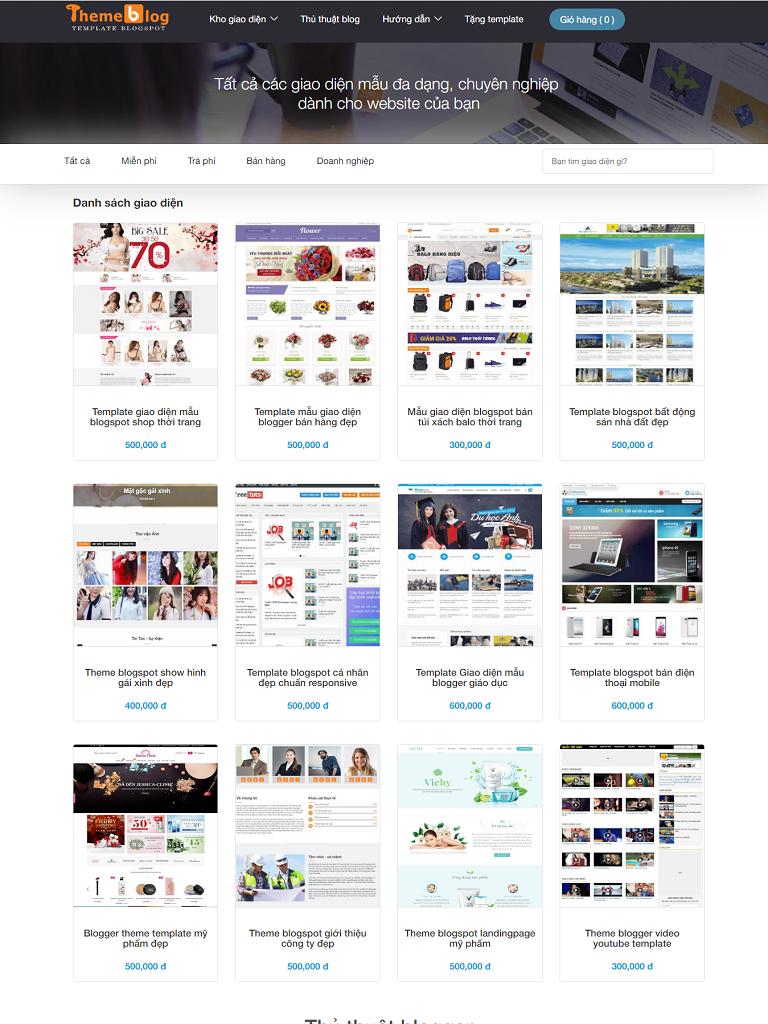 Template blogspot chuyên bán giao diện blogger chuẩn seo
