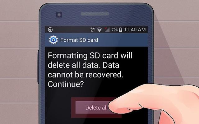 Memang berat jika harus merelakan data yang ada didalam penyimpanan untuk dihapus, namun ini sepertinya ini jalan terbaik untuk mencoba memperbaiki MicroSD kalian.