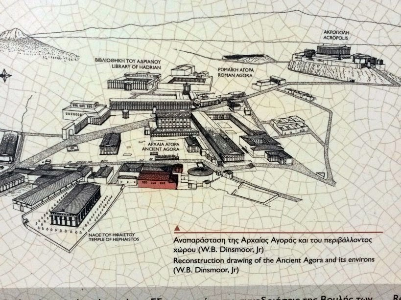 Map of the Ancient Agora in Athens