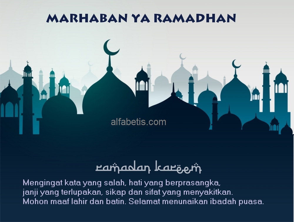 Kartu Ucapan Marhaban Ya Ramadhan Terbaik