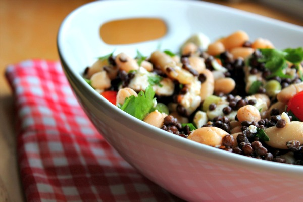 Two Bean, Puy Lentil, Feta and Parsley Salad