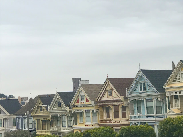 The Painted Ladies of Alamos Square in San Francisco