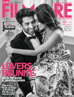 Shraddha Kapoor Romancing Aditya Roy Kapoor for Filmfare January 2017 Magazine WOW