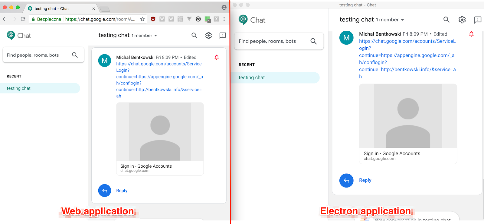 Vulnerability in Hangouts Chat: from open redirect to code execution