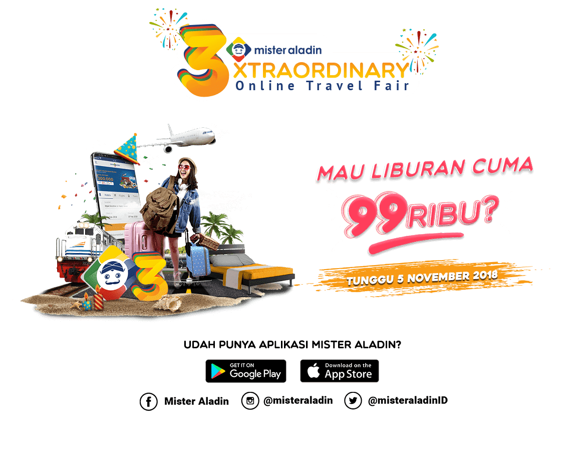 MisterAladin - Promo Xtraordinary Online Travel Fair (05 - 11 Nov 2018)