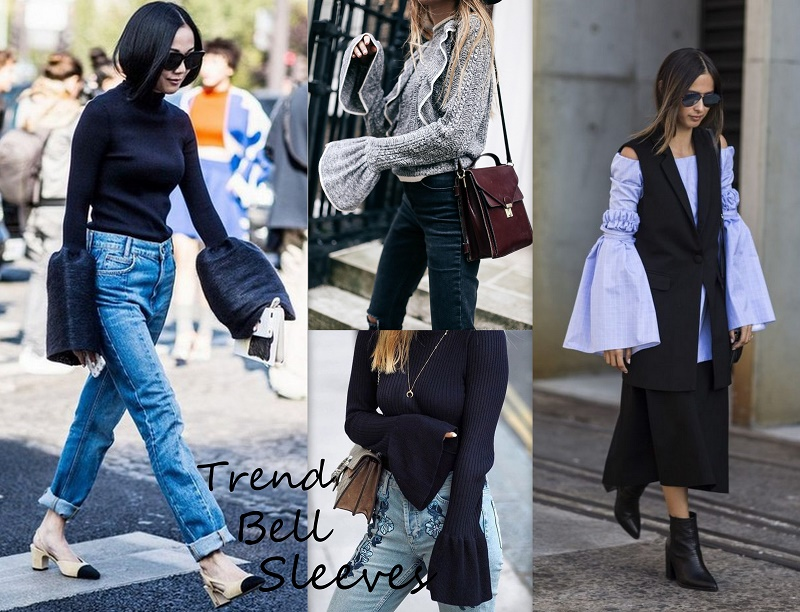 bell sleeves trend outfit
