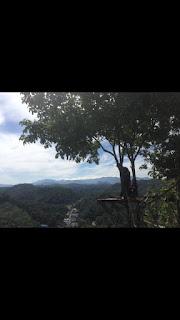 pemandangan di puncak bukit desa mawangi kandangan