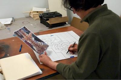 إبداع الفن التشكيلي سجادة من السجائر xubing-tobacco-rug-8