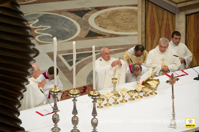 Papa Francisco durante celebração da Missa