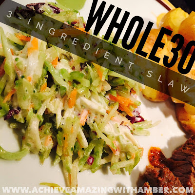 whole30, whole30 recipes, tessemaes recipe, whole 30 approved slaw, clean eating, healthy slaw, healthy summer recipe