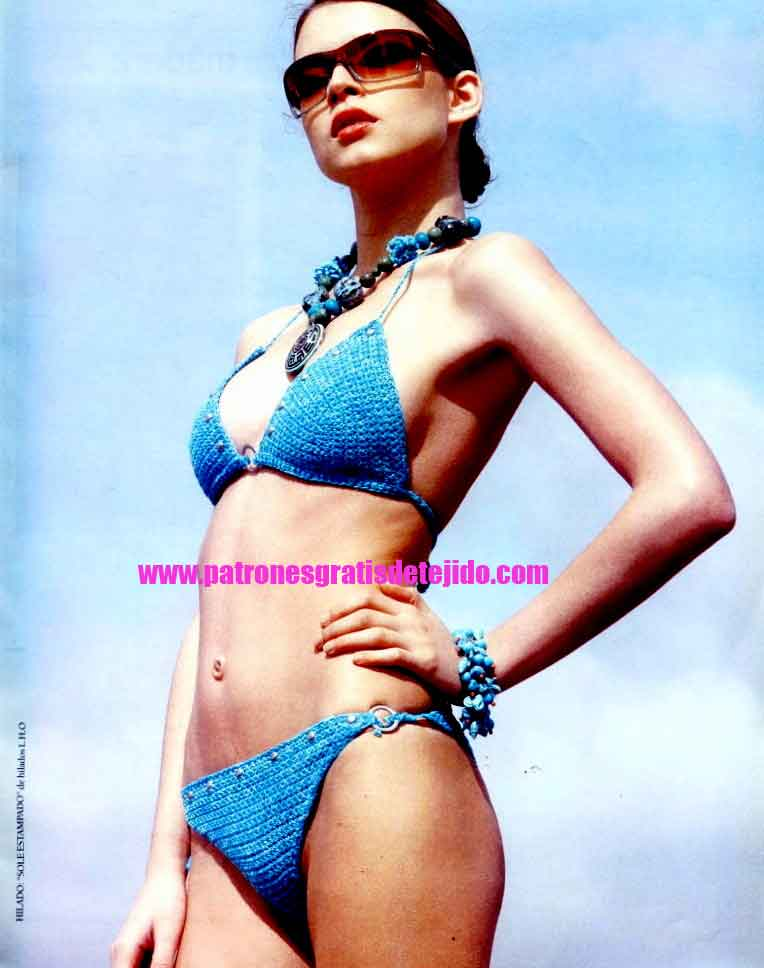 moldes y tutorial de bikini crochet