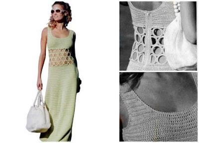 Vestido de verano con argollas a crochet