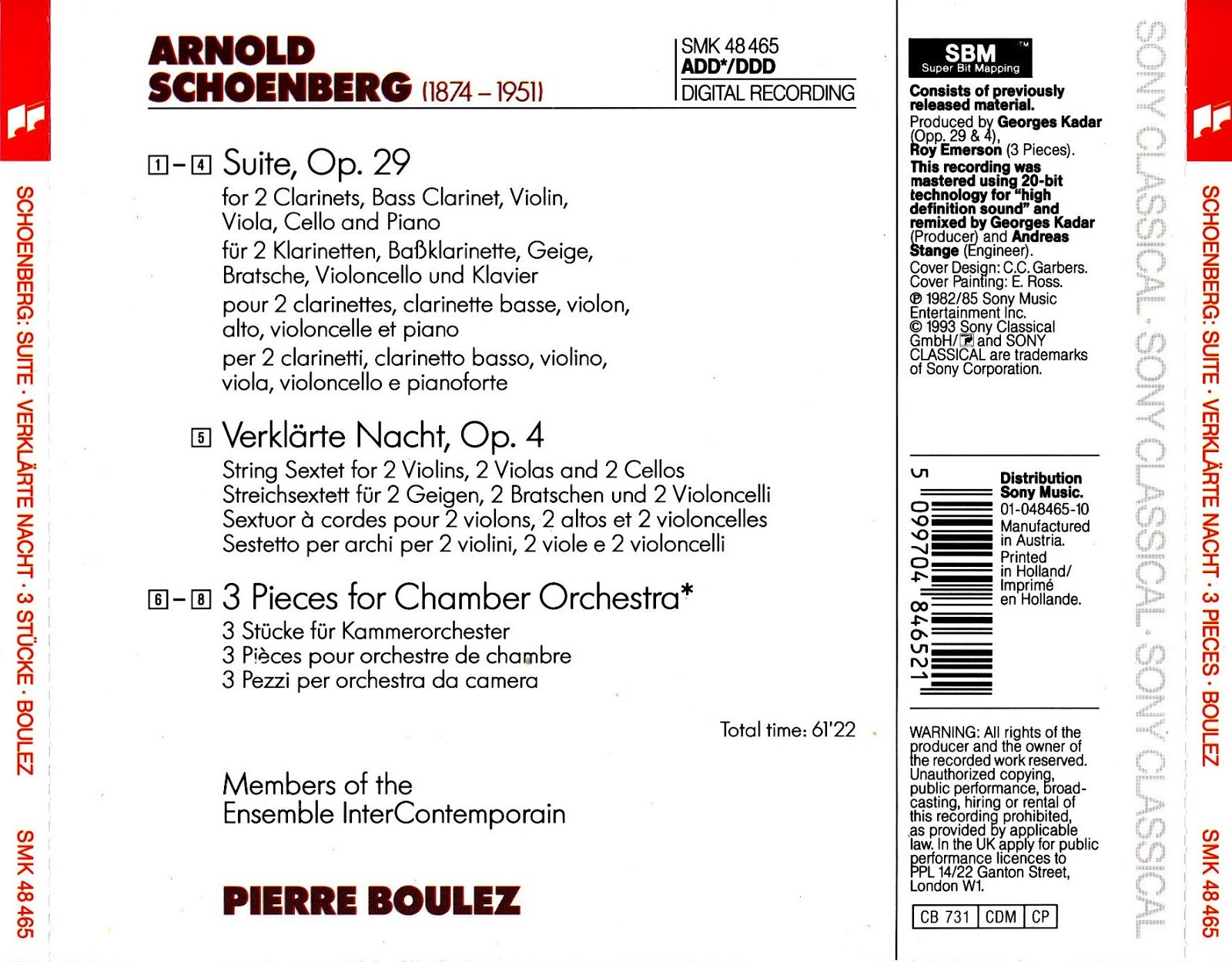 Pierre Boulez - Ensemble Intercontemporain - Sur Incises - Messagesquisse - Anthèmes 2