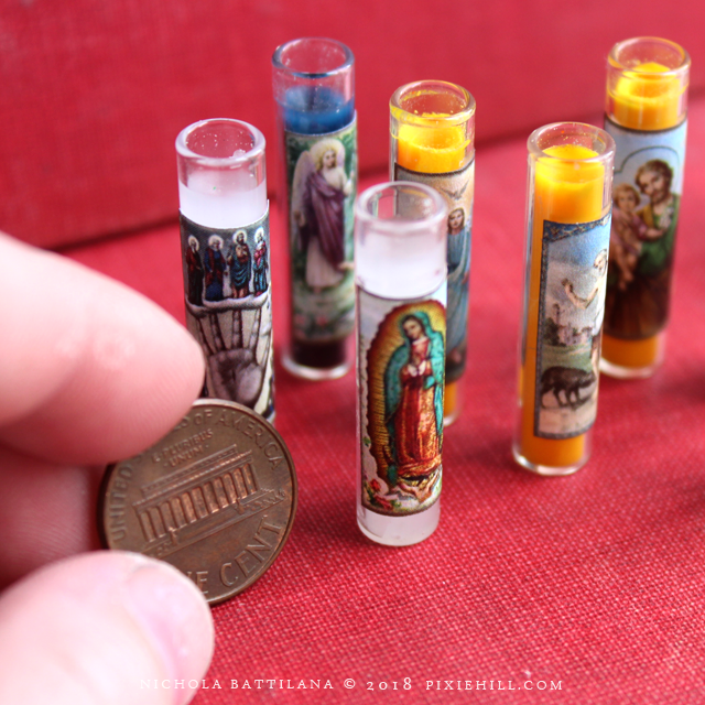 Miniature Novena 7 Day Spell Candles - Nichola Battilana pixiehill.com