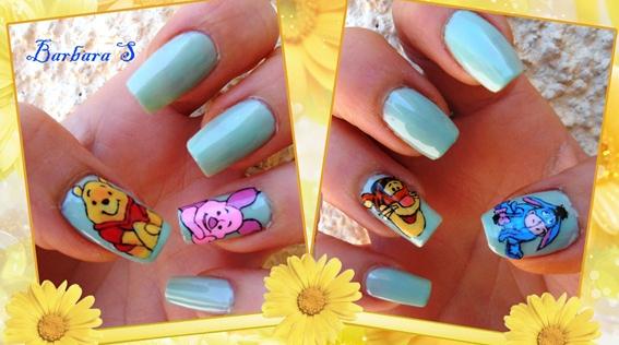 Idea Nails Art Winnie The Pooh